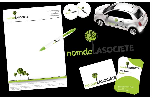 Nous Realisons Votre Identite Visuelle En Creant Logo Carte De Visite Papier A Entete Lettrage Autocollant Badge